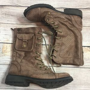 Roxy Seattle IV Brown Combat Boots